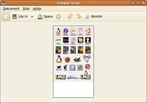 Fönstret för Simple Scan