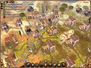 Del av bosättning i Settlers 2, 3D-versionen.