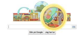 Googles söksida sedd med Uzbl