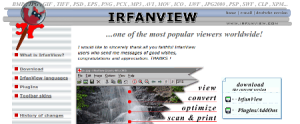 IrfanViews hemsida