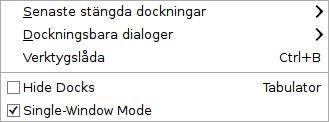 Ändra till Single-Window Mode
