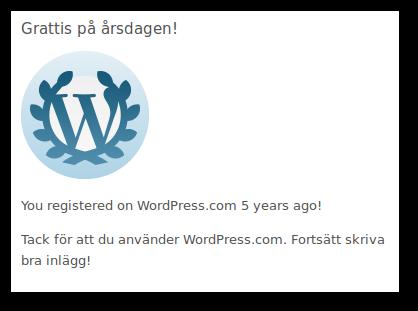 Bloggen 5 år