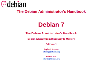 Onlineversionen av Debian 7 handboken